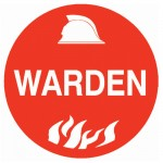 Hard Hat Label - Warden
