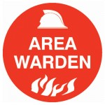 Hard Hat Label - Area Warden