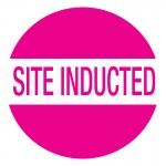 Hard Hat Label - Site Inducted
