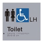 Toilet (Braille) LH Sign