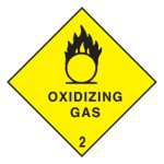 Oxidizing Gas Class 2.2 Sign