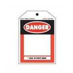 Blank Danger Tag with Tie-On