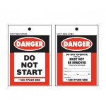 Rigid Plastic Danger Tag Double Sided