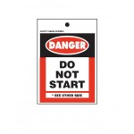 Rigid Plastic Danger Tag Do Not Start