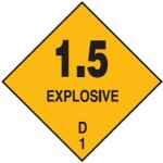 Explosive Class 1.5 Sign