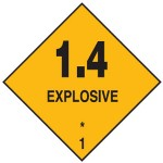 Explosive Class 1.4 Sign