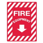 Fire Equipment Below Sign