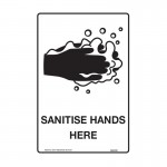 General Information Signs - Sanitise Hands Here