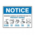 Notice Sign - Washing Hands Is An Effective Way To Prevent Germs