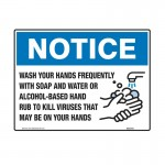 Notice Sign - Wash Your Hands Frequently