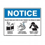 Notice Sign - Follow These Easy Steps - 450 x 300mm, Flu