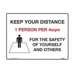 Keep Your Distance 1 Person 4sqm