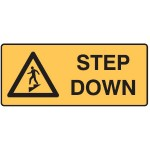 Step Down Picto Step Down Sign