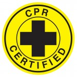 Hard Hat Label - CPR Certified