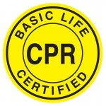 Hard Hat Label - Basic Life CPR Certified
