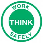 Hard Hat Labels - Think - Work Safely