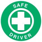 Hard Hat Label - Safe Driver