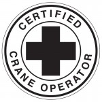 Hard Hat Label - Certified Crane Operator