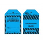 General Instruction Tags - Commissioning Not To Be Operated