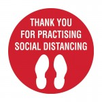 Floor Marking Sign - Thank You For Practising Social Distancing