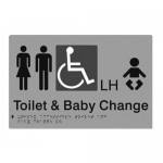 Toilet & Baby Change (Braille) LH Sign