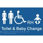 Toilet & Baby Change (Braille) Sign Polycarbonate - H180mm x W276mm