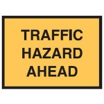 Traffic Hazard Ahead Sign 1200x900 Be Ref Metal