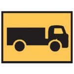 Truck Picto Right Sign 900x600 Be Ref Metal Cl1