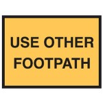 Use Other Footpath Sign 900x600 Be Ref Metal