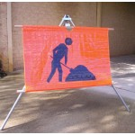Workers Ahead Portable Sign 900x600 Ref Vinyl