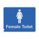 Premium Braille Sign - Female Toilet