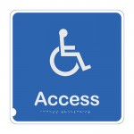 Premium Braille Sign - Access Toilet