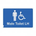 Premium Braille Sign - Male Access Toilet LH