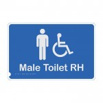 Premium Braille Sign - Male Access Toilet RH