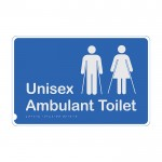 Premium Braille Sign - Unisex Ambulant Toilet