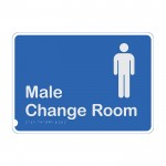 Premium Braille Sign - Male Change Room