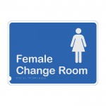 Premium Braille Sign - Female Change Room