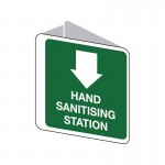 Emergency Information Signs - Hand Sanitising Station 3D Double Sided Sign